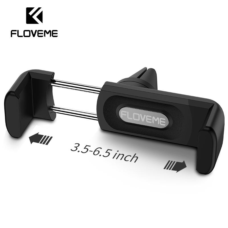 FLOVEME Phone Holder 360 Rotate Air Vent Mount Car Mobile Phone Holder Stand Universal No Magnetic Gravity Mini Phone Holder