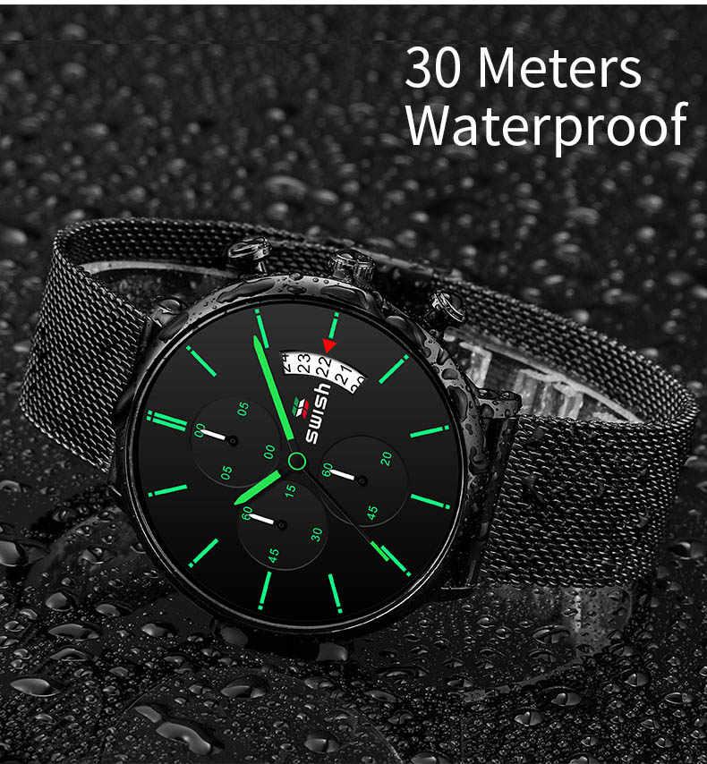 ساعات معصم رجالية ماركة فاخرة موضة 2020 ساعات معصم رجالية مصنوعة من الستانليس ستيل رياضية كرونوغراف ساعة عسكرية كوارتز Reloj