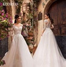 Vestido De Novia luksusowe koronki z kryształkami suknia ślubna 2020 pół rękawa szata De Mariee aplikacje Chaple Train suknie ślubne