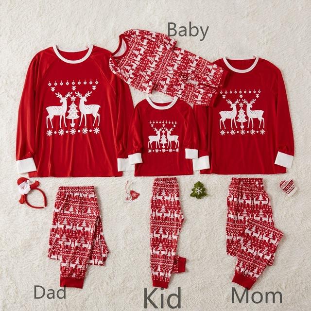 Christmas Family Matching Long Pajamas