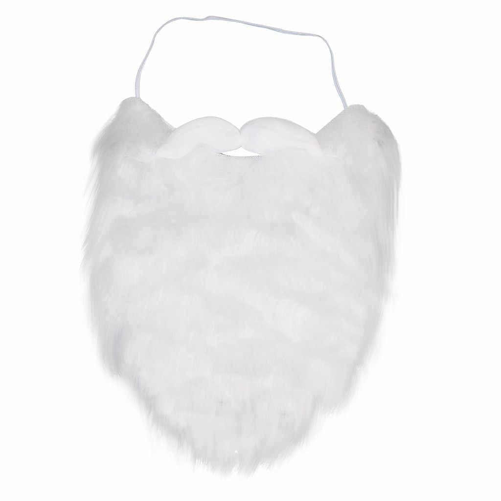 Noel noel baba sakal noel baba sahte sakal üzerinde aksesuarı kostüm partisi aksesuarları Cosplay aksesuarları 2020 süslemeleri aracı