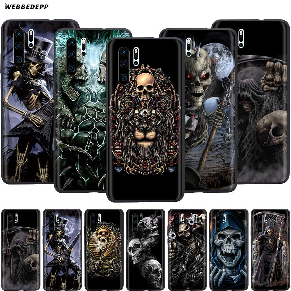 Webbedepp Grim Reaper Skull Skeleton Case for Huawei Honor 6A 7A 7C 7X 8 8X 8C 9 9X 10 20 Lite Pro Note View