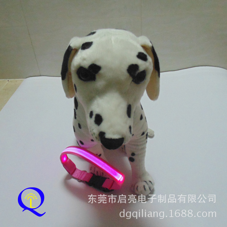LED Shining Nylon Pet Collar Large And Medium Small Dogs Pet Collar Night Light Dog Neck Ring
