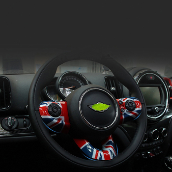Moldeado Interior de cubierta de placas decorativas para volante de coche adecuado para MINI Cooper F54 F55 F56 F60 CLUBMAN COUNTRYMAN