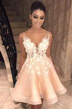 Романтичное кружевное платье с v образным вырезом короткое блестящее