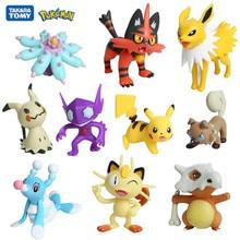 Tomy Pokemon 3-8cm Pet Collection Pikachu Squirtle Bulbasaur  Vulpix Eevee Abra Litten Anime Figures Dolls Model Kawaii Toys
