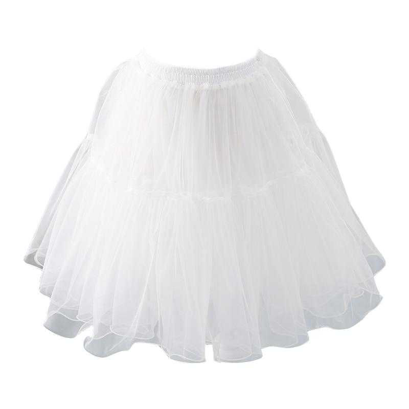 2020 Black Or White Short Petticoats For Wedding Lolita Woman Girl Underskirt Crinoline Fluffy Pettycoat Hoop Skirt Plus Size