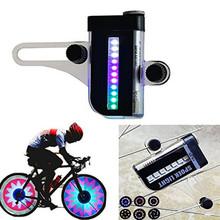 Gorąca sprzedaż dwie strony 14 LED kolorowe motocyklowe kolarstwo rowerowe koło rowerowe sygnał oświetlenie szprychowe 30 zmian akcesoria rowerowe tanie tanio CN (pochodzenie) DHT324 Koła szprychy Baterii