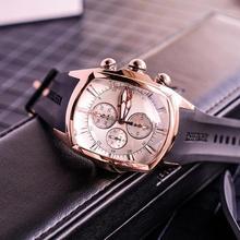 Reef relógios esportivos para homens, relógio de luxo com pulseira de ouro rosé e borracha, militar, à prova dágua, 2020