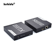 KVM HDMI Extender IR Remote HDMI Support Over IP TCP CAT5e/6 Cables RJ45 KVM Extender Support POE Switch HDCP HDMI Loop Output