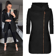 New Hot Women Slim Black Red Gray Hooded Thick Jacket Coats