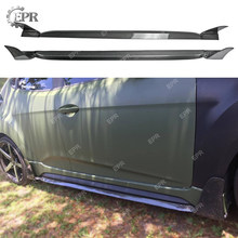 Carbon OEM Side Skirt For Hyundai Veloster Lordpower Wide Body Carbon Fiber Side Skirt Tuning Trim Accessories For Veloster(China)