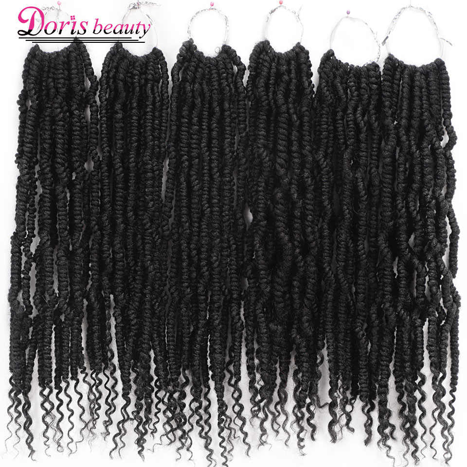 Passion Spring Twists Synthetic Crochet Hair Extensions 14 18 inch Ombre Crochet Braids Fluffy Curly Bomb Twist Braiding Hair