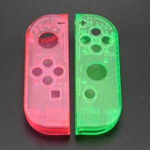 Image 5 - Custodia JCD custodia Cover per Nintendo Switch NS NX Joy Con Controller custodia protettiva di ricambio trasparente rosso blu