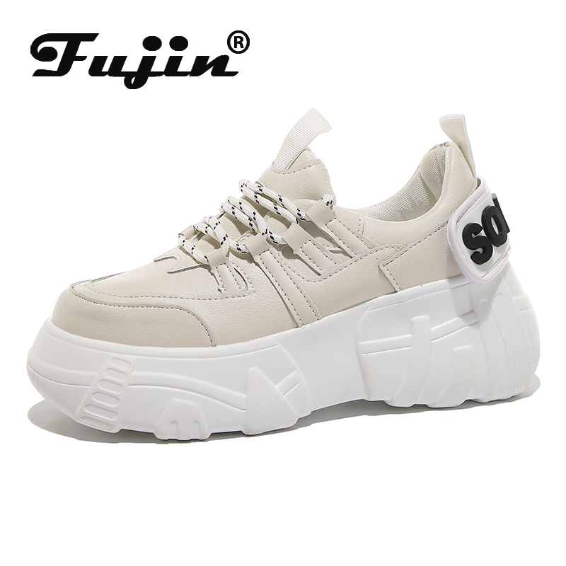 Fujin Sneaker Women Autumn Fashion Thick Bottom Lace Up Woman Dropshipping Muffin Bottom Breathable Women Causal Shoes Spring