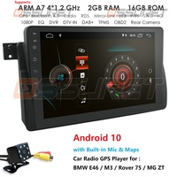 2G RAM 16G ROM 4G WIFI 1 Din Android 10 Car Radio For BMW E46 M3 Rover 75 Coupe 318/320/325/330/335 Navigation Multimedia Stereo