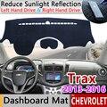 Для Chevrolet Trax Tracker Holden 2013 2014 2015 2016 Противоскользящий коврик для приборной панели Защита от солнца коврик для приборной панели автомобильные а...