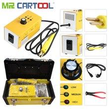 Mr Cartool 220V AC caliente conjunto de grapadora máquina de soldador de plástico Auto parachoques reparación del cuerpo del coche con 700 Uds Alambre de soldadura