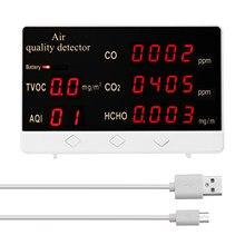 Dijital CO2 ölçer co2 sensörü yüksek hassasiyetli CO CO2 HCHO TVOC dedektörü hava kalitesi izleme hava analizörü karbon dioksit sensörü