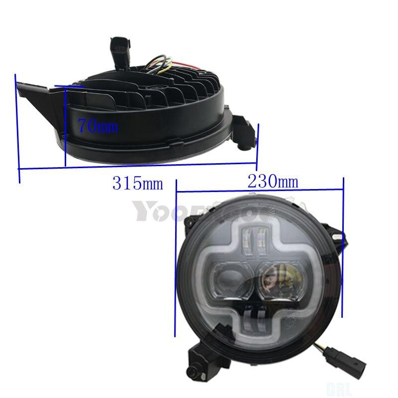 For Jeep wrangler JL 2018 2019 Angle Eye Headlights Projecor with Hi/Low Beam 110w Car Sport Lights - 5