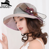 Ms. hat summer new anti outside the flowers along the cap sun visor and versatile stylish cloth cap Female