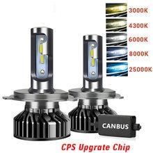 Farol led 16000lm csp chips 110w h11 led farol lâmpada h1 h7 h8 9005 9006 luzes led para carro h4 9003 led faróis