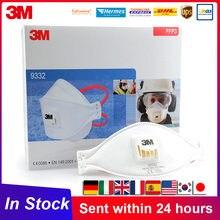 FFP3 3 M Aura 9332 9334 polvo de máscara a prueba de polvo Haze tiempo con válvula de Aura partículas respirador 3 M FFP3 máscaras en Stock