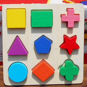 Geometric Shape and Color Matching Toys Wooden 3D Puzzles Baby  Early Educational Learning Toy for Children simingyou wooden toys puzzle color toy for color exerciseand shape identification exercise drop shipping