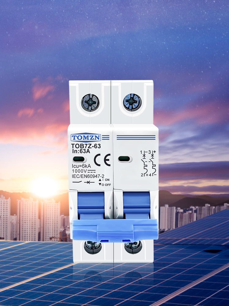 DC MCB Pv-System Mini-Circuit-Breaker 63A Solar 25A 16A 10A 20A 50A 40A 2P 32A