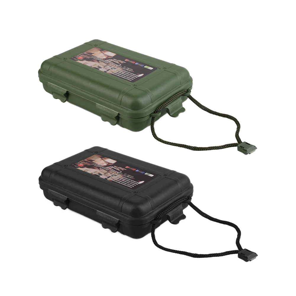 Storage Box Torch Light Light Tool Plastic Green Flashlight 3# Black Outdoor Case Pointer 2color