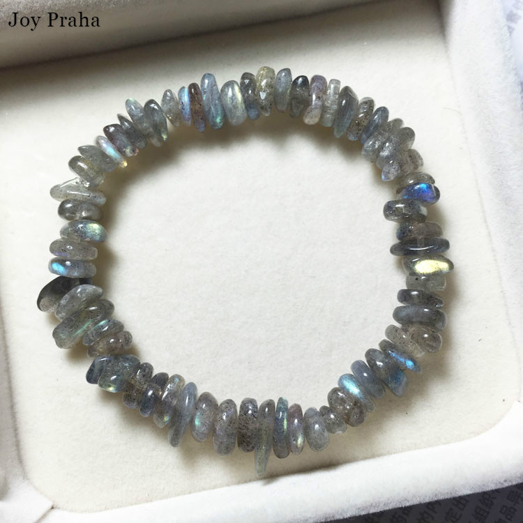 Natural Crystal Grey Moonstone Bracelet / Labradorite Bracelet Fashion Jewelry Gift / Wholesale Dropshipping