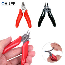 3.5 Inch Diagonal Pliers Mini  Cable Wire Cutters  Small Soft Cutting Crimper Pliers Wires Insulating Rubber Handle Model Pliers factory direct color handle 6 inch american diagonal pliers diagonal pliers