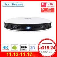 TouYinger G4 extérieur 2D à 3D Mini projecteur DLP Android Full HD 4K vidéo wifi Bluetooth HDMI LED Portable cinéma maison projecteur