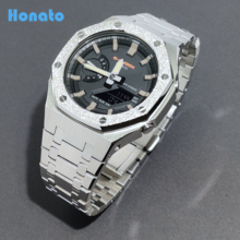 Hontao GA2100 CasiOak 3th Generation Luxury Edition All Metal Watch Strap Bezel Replacement Accessories for Casio GA-2110/2100