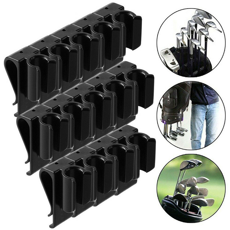 14Pcs/Set Golf Bag Clip On Putter Clamp Holder Putting Organizer Club Ball Marker Golf Bag Clip