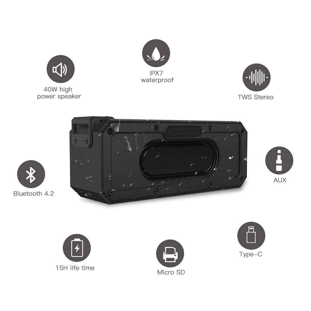 Music center high power 40W przenośna kolumna soundbar z bluetooth do komputera super bass stereo IP7XWaterproof Shockproof boom box
