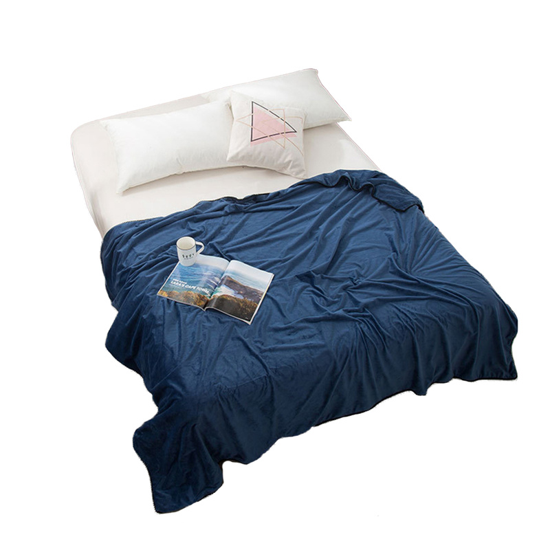 Couvertures de Double couche de couleur unie épaisse molle de Plaids de couverture d'ouatine de 150*200cm pour le lit/Sofa/couverture portative de couverture de voyage de voiture