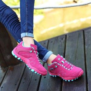 Image 4 - סנטה אביב נעלי הליכה גברים נשים עמיד למים נעלי התנגדות ללבוש טיפוס הרי נעלי עור ספורט סניקרס טרקים אתחול