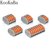 1-100 Stuks Universele Terminals Block Plug-In Elektrische Draad Connector 222-412 413 414 415 418 type Bedrading Kabel Connector(China)