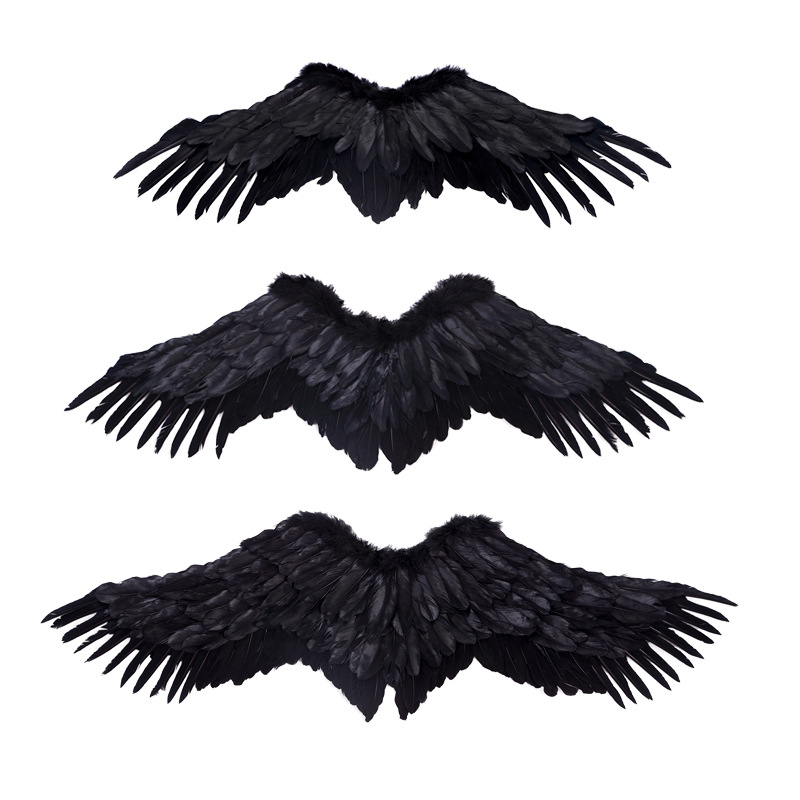 White Feather Angel Wing Children Adults Cosplay Performance Props Halloween Party Favor