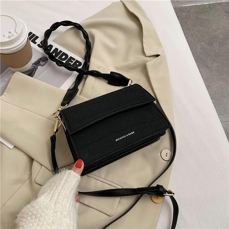 Модная простая маленькая квадратная сумка 2020 зимняя новая женская сумка роскошная дизайнерская женская сумка на плечо Повседневная сумка-...