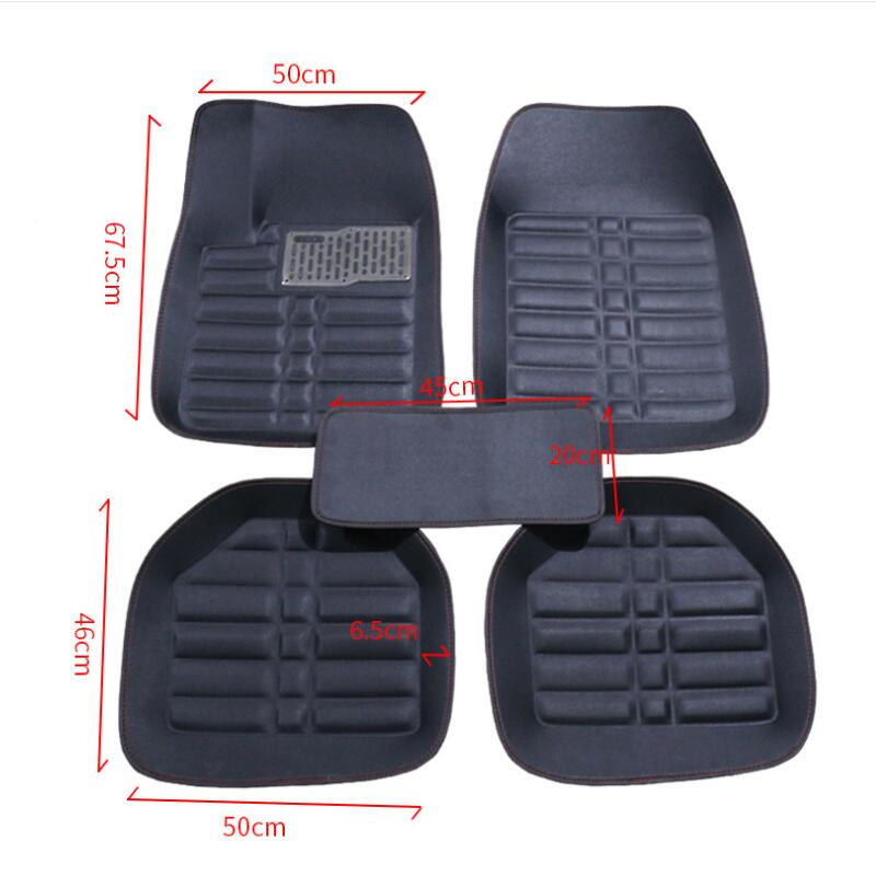 Car Floor Mats Universal for Ford fusion mondeo Focus 2 3 kuga Fiesta Edge Explorer fiesta Car Leather waterproof floor carpet|Floor Mats| |  - title=