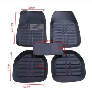 Car Floor Mats Universal for Ford fusion mondeo Focus 2 3 kuga Fiesta Edge Explorer fiesta Car Leather waterproof floor carpet image