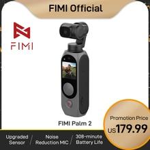 FIMI PALM 2-Cámara de cardán palm2 FPV 4K 100Mbps, estabilizador WiFi 308 min, reducción de ruido, micrófono, detección facial inteligente, disponible