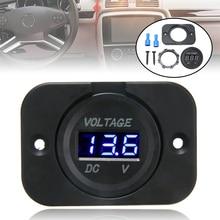 New Arrival 1pc 12V-24V Blue LED Digital Voltmeter Panel Car Motorcycle Voltage Meter for Cars Motorcycles ATV RV SUV