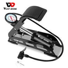 Bicycle-Pump-Gauge High-Pressure Inflator Foot-Pedal Air-Pump Road-Bike West Biking MTB