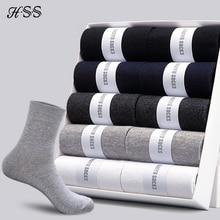 HSS 2019 Men's Cotton Socks New styles 10 Pairs / Lot Black Business Men Socks Breathable Autumn Winter for Male US size(7.5-12)