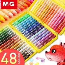 M & G 24/36/48 kolory supergładka długopis przekręcany akwarela pastel kolor wody szkoły pastele olejne dla dzieci kredki woskowe aquarelle długopis