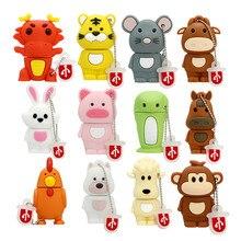 Chinesische Sternzeichen Zeichen USB Memory Stick 4 8 16 32 64 128 256 gb Stick 256GB 32GB 8GB USB-Stick Hund/Schwein/Tiger/Kaninchen geschenk