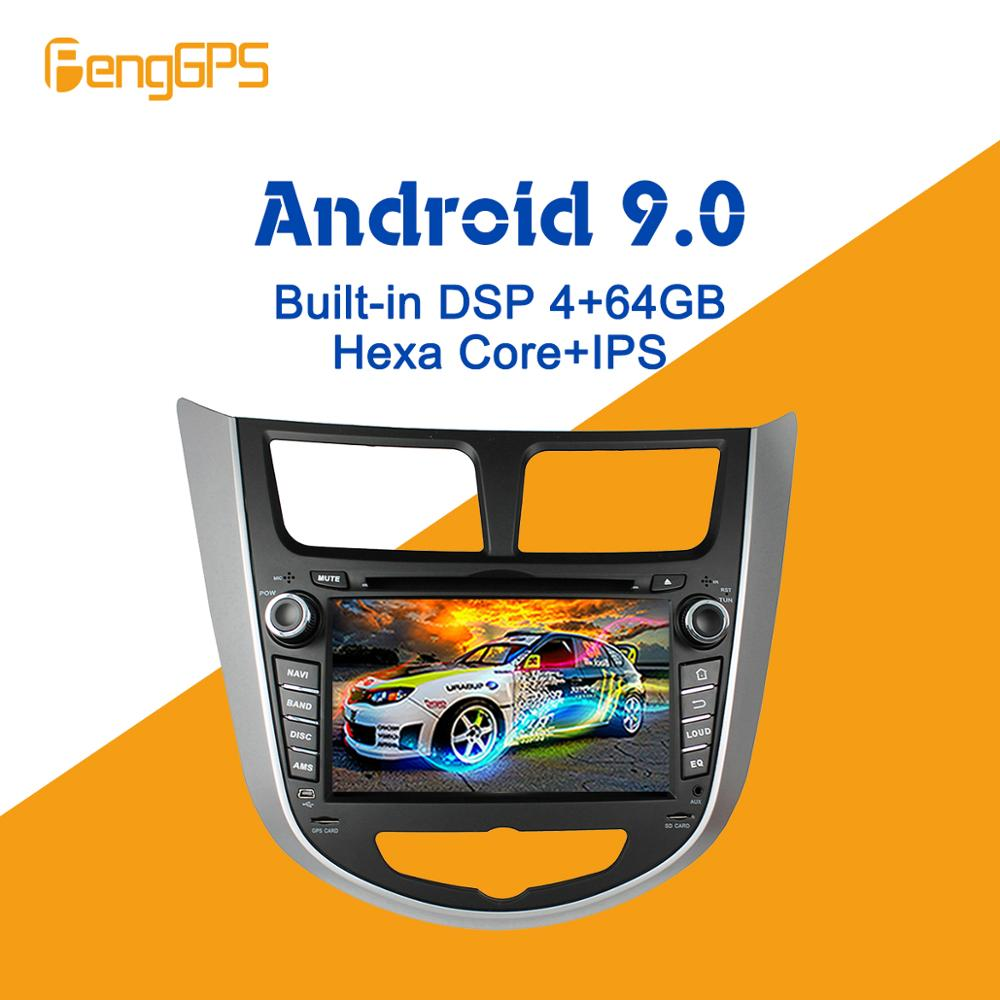 Android 9.0 PX6 DSP For <font><b>Hyundai</b></font> Solaris <font><b>accent</b></font> Verna 2011-2016 Car Multimedia Stereo Player DVD Radio <font><b>GPS</b></font> Navigation Head unit image
